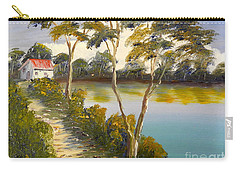 House By The Lake Carry-all Pouch by Pamela  Meredith