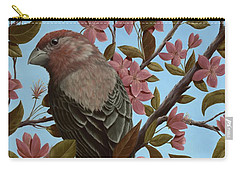 House Finch Carry-all Pouch by Rick Bainbridge
