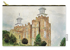 Carry-all Pouch featuring the painting House Of Defense by Greg Collins
