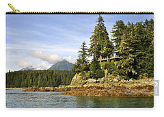 Carry-all Pouch featuring the photograph House Upon A Rock by Cathy Mahnke