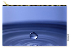 Hovering Blue Water Drop Carry-all Pouch by Anthony Sacco