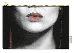 Carry-all Pouch featuring the painting How Do I Love Thee...let Me Count Your Money by Pat Erickson