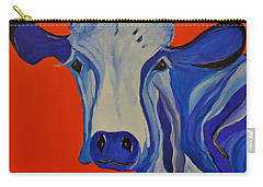 How Now Blue Cow Carry-all Pouch