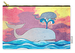 How Whales Have Fun Carry-all Pouch
