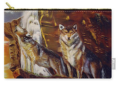 Carry-all Pouch featuring the painting Howling For The Nightlife  by Thomas J Herring