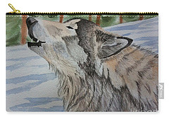 Howling Wolf In Winter Carry-all Pouch
