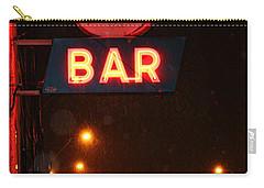 Hub Bar Snowy Night Carry-all Pouch