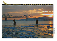 Hudson River Icey Sunset Carry-all Pouch