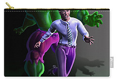 Carry-all Pouch featuring the painting Hulk - Bruce Alter Ego by Anthony Mwangi