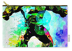 Hulk Watercolor Carry-all Pouch by Daniel Janda