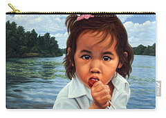 Carry-all Pouch featuring the painting Human-nature 48 by James W Johnson