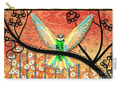Carry-all Pouch featuring the digital art Hummer Love by Kim Prowse