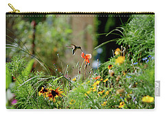 Carry-all Pouch featuring the photograph Humming Bird by Thomas Woolworth
