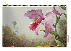 Hummingbird And Two Types Of Orchids Carry-all Pouch