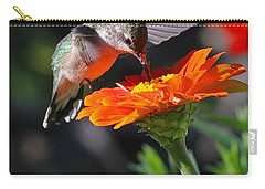 Hummingbird And Zinnia Carry-all Pouch