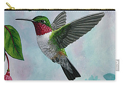 Hummingbird Greeting Card 1 Carry-all Pouch by Crista Forest