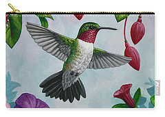 Hummingbird Greeting Card 2 Carry-all Pouch by Crista Forest