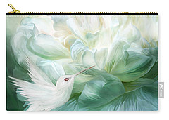 Carry-all Pouch featuring the mixed media Hummingbird Kiss by Carol Cavalaris