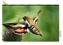 Hummingbird Moth From Behind Carry-all Pouch