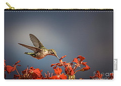 Hummingbird Or My Summer Visitor Carry-all Pouch