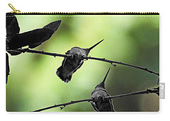 Carry-all Pouch featuring the digital art Hummingbird Tree by Lizi Beard-Ward