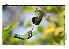 Hummingbirds Ensuing Battle Carry-all Pouch by Christina Rollo