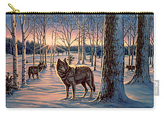Hunters At Twilight Carry-all Pouch