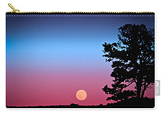 Carry-all Pouch featuring the photograph Hunter's Moonrise In Eastern Arizona by John Haldane