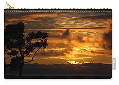 Carry-all Pouch featuring the photograph Huntington Beach Sunset by Matt Harang