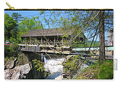 Carry-all Pouch featuring the photograph Hurricane Irenes Destruction by Sherman Perry
