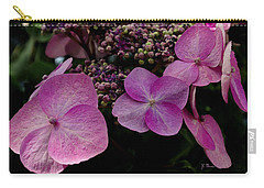 Carry-all Pouch featuring the photograph Hydrangea Flowers  by James C Thomas