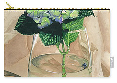 Hydrangea Blossom Carry-all Pouch by Barbara Jewell