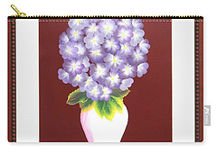 Carry-all Pouch featuring the painting Hydrangea by Ron Davidson