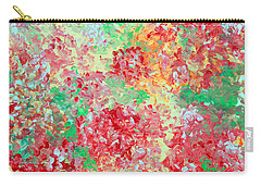 Carry-all Pouch featuring the painting Hydrangeas II by Alys Caviness-Gober