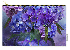 Hydrangeas In Hydrangea Vase Carry-all Pouch