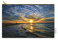 Carry-all Pouch featuring the photograph Hypnotic Sunset At Israel by Ron Shoshani