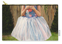 Carry-all Pouch featuring the painting I Dressed Myself by Donna Tucker
