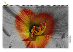 Carry-all Pouch featuring the photograph I Heart Flowers by Janice Westerberg