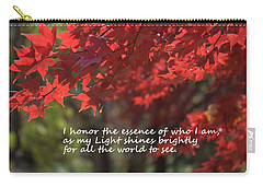 Carry-all Pouch featuring the photograph I Honor The Essence Of Who I Am by Patrice Zinck