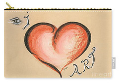 I Love Art Carry-all Pouch by Teresa White