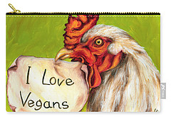 Carry-all Pouch featuring the painting I Love Vegans by Hiroko Sakai
