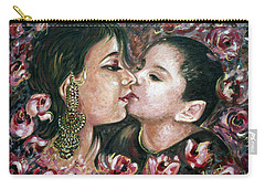 Carry-all Pouch featuring the painting I Love You Mom by Harsh Malik