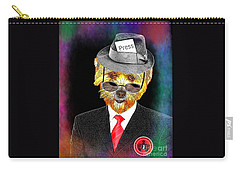 Carry-all Pouch featuring the digital art I Report The News by Kathy Tarochione