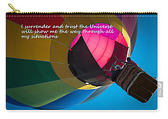 Carry-all Pouch featuring the photograph I Surrender And Trust by Patrice Zinck