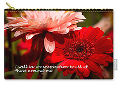 I Will Be An Inspiration Carry-all Pouch by Patrice Zinck