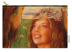 Carry-all Pouch featuring the painting I Will Lift The Veil by Hazel Holland