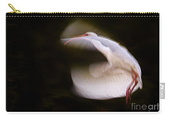 Carry-all Pouch featuring the photograph Ibis In Flight by J L Woody Wooden