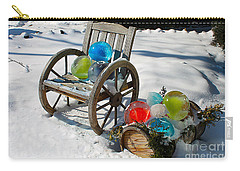 Carry-all Pouch featuring the photograph Ice Ball Art by Nina Silver