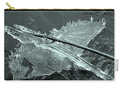Carry-all Pouch featuring the photograph Ice-bird On The River by Nina Silver