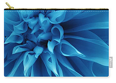 Ice Blue Dahlia Carry-all Pouch